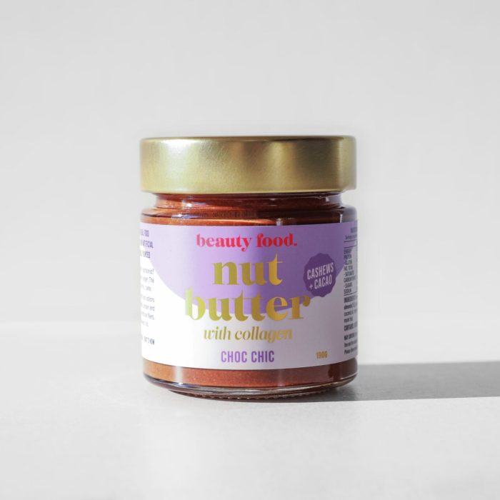 A studio shot of the Beauty Food Choc Chic Nut Butter